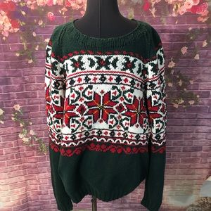 Vintage Tommy Hilfiger Hand Knit Christmas Sweater